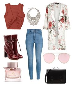 Malone Souliers, River Island, Burberry, Festive, Floral, Polyvore, Pink, Fashion, Moda