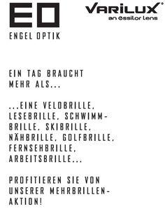 News über Brillen, Kontaktlinsen, Optik - Engel Optik Simona Köppel Appenzell