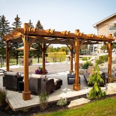 Enjoy your time outdoors even more by adding the Outdoor Living Today Breeze 10 x 16 ft. Pergola with Retractable Canopy over your outdoor dining set,. Pergola Canopy, Metal Pergola, Deck With Pergola, Cheap Pergola, Wooden Pergola, Covered Pergola, Backyard Pergola, Pergola Shade, Pergola Plans