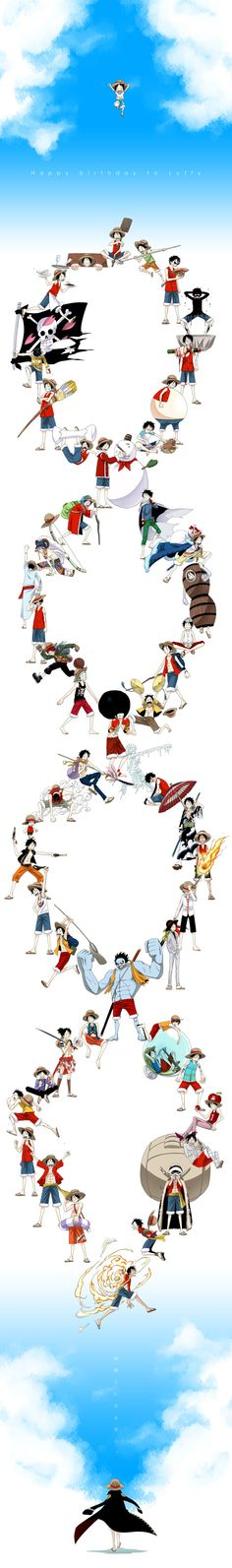 Luffy los mejores instantes de sus batallas <3