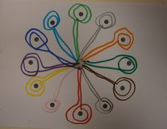 "LA CLASE DE MIREN: mis experiencias en el aula: TALLER DE GRAFISMO: ""IR Y VOLVER DANDO UNA VUELTA"" Painting For Kids, Drawing For Kids, Art For Kids, Preschool Writing, Math Literacy, Learning To Write, Learning Activities, Dot Day, Sick Kids"