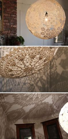 LAKE JANE - design, decorating, fashion, food and all the other good stuff.: Doily lamp