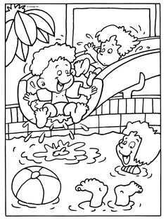 pool safety coloring pages Week 1 Summer Coloring Pages, Colouring Pages, Coloring Pages For Kids, Coloring Sheets, Adult Coloring, Coloring Books, Free Coloring, Summer Activities For Kids, Summer Kids