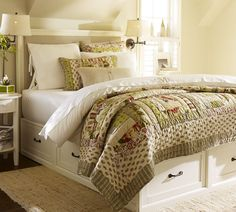 Shop bed with drawers from Pottery Barn. Our furniture, home decor and accessories collections feature bed with drawers in quality materials and classic styles. Bed With Drawers Underneath, Bed Frame With Drawers, White Drawers, King Storage Bed, Under Bed Storage, Storage Beds, Storage Drawers, Extra Storage, Barn Storage