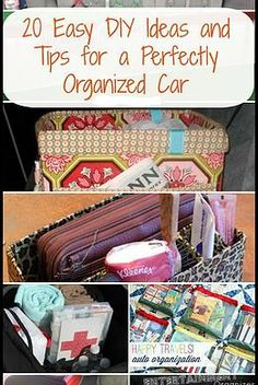 Kaila's Place| 20 DIY Ideas for an organized car