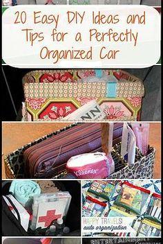 Kaila's Place| 20 DIY Ideas for an organized car