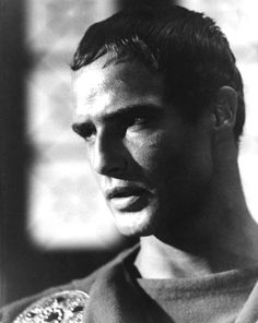 "Marlon Brando as Marc Antony in ""Julius Caesar"""