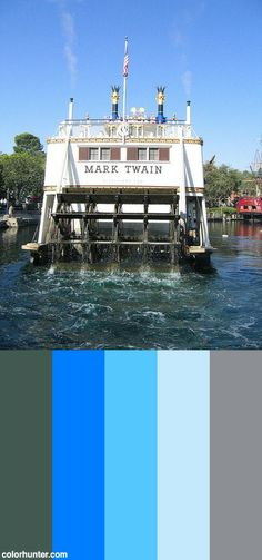 Mark Twain Riverboat Passing By 04 Color Scheme