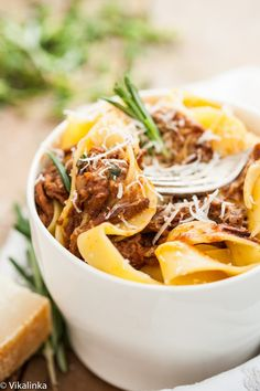 Crock Pot Rustic Italian Beef Ragu  Pappardelle is a wide pasta like noodle...similar to fettuccine