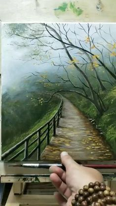 Canvas Painting Tutorials, Acrylic Painting Canvas, Canvas Art, Acrylic Painting Lessons, Acrylic Art, Landscape Art, Landscape Paintings, Sky Art, Cool Art Drawings