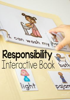 These leveled interactive books are amazing!  Teach responsibility for preschoolers with these engaging books.