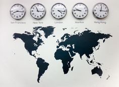 Feature product: World map wall stickers | Vinyl Impression