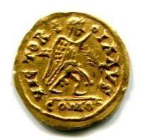 Collezione privata. Tremisse di Teodorico in nome di Anastasio_retro