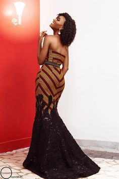 When it comes to fashion creativity, dynamism and originality, there is almost nothing as fashionable as the combination of Ankara [& The post Latest Ankara & Lace Styles for Women appeared first on Beradiva. African Prom Dresses, African Dresses For Women, African Attire, African Women, African Fashion Ankara, Latest African Fashion Dresses, African Print Fashion, African Prints, Ankara Long Gown Styles