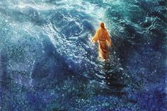 picture of jesus christ walking on the water Images Of Christ, Pictures Of Jesus Christ, Arte Lds, Lds Art, Bible Art, Christian Artwork, Christian Quotes, Jesus Painting, Great Works Of Art
