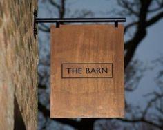 The Barn Restaurant Branding - Grits + GridsGrits + Grids The Barn Restaurant, Restaurant Signage, Retail Signage, Wayfinding Signage, Signage Design, Cafe Design, Cafe Signage, Outdoor Signage, Wooden Signage