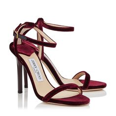 Celebrities who wear, use, or own Jimmy Choo Minny Velvet Sandals. Also discover the movies, TV shows, and events associated with Jimmy Choo Minny Velvet Sandals. Pretty Shoes, Beautiful Shoes, Stiletto Shoes, Shoes Heels, Look Fashion, Fashion Shoes, Jimmy Choo Shoes, Bordeaux, Dream Shoes