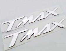 Silver 3D Raised Emblem Stickers Decal For YAMAHA TMAX T-MAX500 T-MAX530 Bikes
