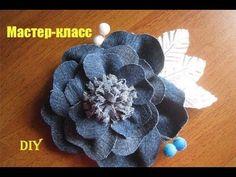 D.I.Y. Denim Fabric Flower Accessory | MyInDulzens - YouTube