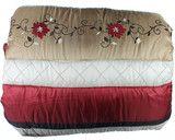 Hallmart Lynette Embroidered 24 Piece Floral Stripe Comforter Set Red Luxury Comforter Sets, Bedding Sets, Gold Bedding, Hudson Park, Retail Sector, Bed In A Bag, Buy Bed, Cheap Designer
