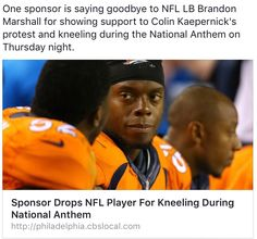 GOOD I hope all of the NFL sponsers drop any teams who do not stand! it is a disgrace!! I find it hilarious tha t they are making so much money yet they are completely ungrateful for what they have! GO BACK TO AFRICA YOU SELFISH BASTARDS!