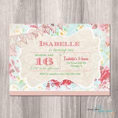 Shabby Chic Birthday Invitation  Princess by StyleswithCharm, $12.00