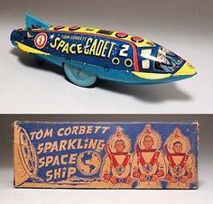tin toys luis marx us made tom corvette