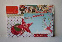 Let's Scrap 11-27-13 DT, Let's Scrap, Christmas, Card, October Afternoon, MT, Washi Tape