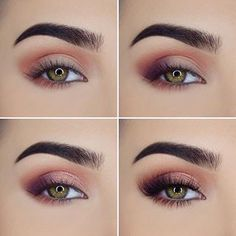 somky rose gold eye shadow look