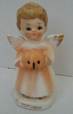 Vintage Halloween Birthday October Angel made in Japan