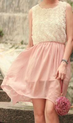 Rose Asymmetric Dress ♡