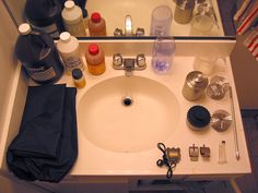 12 steps bathroom sink darkroom