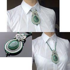 Ribbon Jewelry, Bead Embroidery Jewelry, Bead Jewellery, Jewellery Storage, Metal Jewelry, Jewelry Crafts, Jewelery, Handmade Jewelry, Soutache Pendant