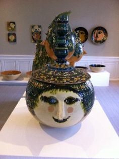 A female head vase by Bjørn Wiinblad
