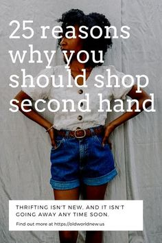 There are several reasons why you should shop second hand - save money, diversify your wardrobe, be more sustainable, among many more reasons! Fashion Moda, Fast Fashion, Slow Fashion, Fashion Tips, Fashion Ideas, Sustainable Fashion, Sustainable Living, Sustainable Style, Sustainable Textiles
