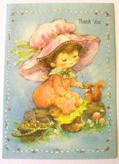 That hat! Vintage Greeting Cards, Vintage Postcards, Vintage Images, Autumn Illustration, Cute Illustration, Retro Illustrations, Gif Animé, Vintage Birthday, Get Well Cards