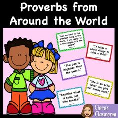 Printable Proverbs from Around the World - Colour Version by Ciara's Classroom Set of 42 printable proverbs from around the world. Ideal for exploring quotes, world sayings and world proverbs with your class. Your students will love exploring quotes from lots of different countries and comparing them to other well-known proverbs and sayings. These classroom proverbs would be a perfect addition to any multicultural classroom. Multicultural Classroom, Seeing Quotes, Explore Quotes, Proverbs Quotes, Classroom Setting, Life Skills, Social Studies, Teaching Resources, Exploring