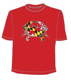 #maryland flag crab red shirt @ BookHolders for only $12 University Of Maryland, Red Shirt, Flag, Mens Tops, Shirts, Stuff To Buy, Fashion, Moda, Shirt