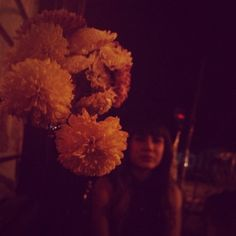 Flower and lady.