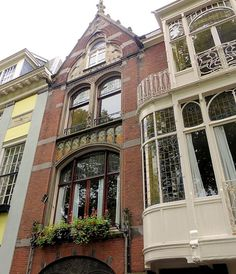 Art Nouveau, Art Deco, La Haye, The Hague, Old Houses, Big Ben, Facade, Buildings, Scenery