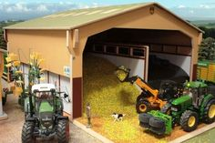 Brushwood Toys Model Farm Buildings - Wooden Scale Farmyard Sheds & Barns
