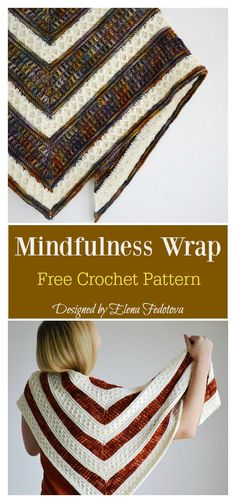 Knitting and Crochet Patterns Ravelry - Mindfulness Wrap Free Crochet Pattern.he design of Mindfulness Wrap Free Crochet Pattern is absolutely gorgeous.Crochet Doughnut Coasters Crochet Dreamz shares a free written pattern for these little cute little don Crochet Poncho Patterns, Crochet Coat, Crochet Shawls And Wraps, Shawl Patterns, Crochet Beanie, Crochet Scarves, Crochet Clothes, Crochet Stitches, Knitting Patterns