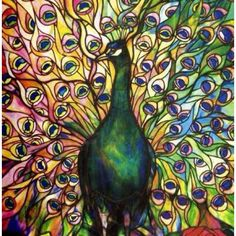 With vibrant colors and intricate designs, 'Fine Peacock' by Tiffany Studios is sure to liven up any room. The hand-crafted stretched canvas makes this piece a museum quality reproduction of the origi