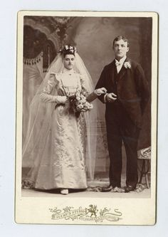 Wedding Cabinet Card (1890s)