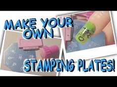 DIY; How To Make Your Own Stamping Plates For Nail Art! - Tutorial :) - YouTube I've been wanting one of these sets!