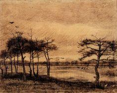 Vincent van Gogh, Pine Trees in the Fen 1884