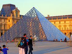 THE LOURVE PYRAMID, PARIS, FRANCE.