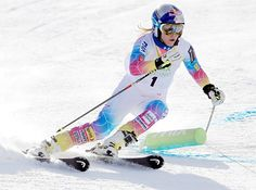 Lindsey Vonn skiing on November 8, 2013 in Vail, Colorado
