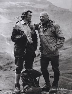 """Clint Eastwood, George Kennedy in """"The Eiger Sanction"""" (1975). Director: Clint Eastwood."""