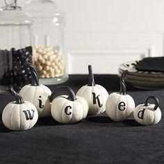 Wicked Pumpkins, Set of Six